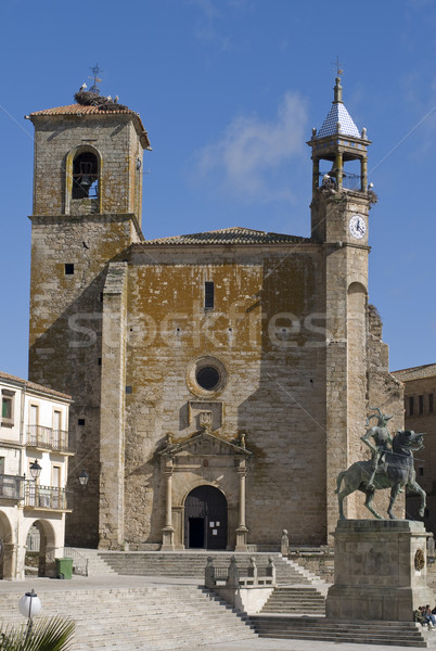 Mayor Square in Trujillo. Caceres, Spain. Stock photo © Photooiasson