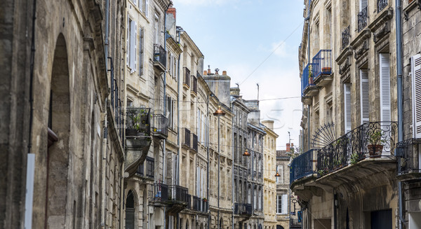 типичный улице фон синий антикварная Сток-фото © Photooiasson