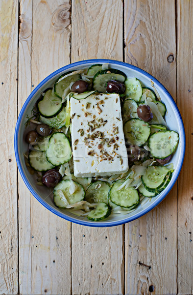 Greek salad. Stock photo © Photooiasson