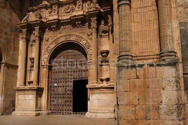 Santa Maria church. Alarcon in Cuenca. Spain Stock photo © Photooiasson