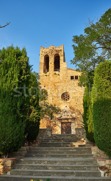 Sant Pere de Pals church. Girona, Spain. Stock photo © Photooiasson