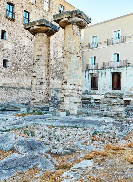 колонн храма Италия архитектура Европа древних Сток-фото © Photooiasson