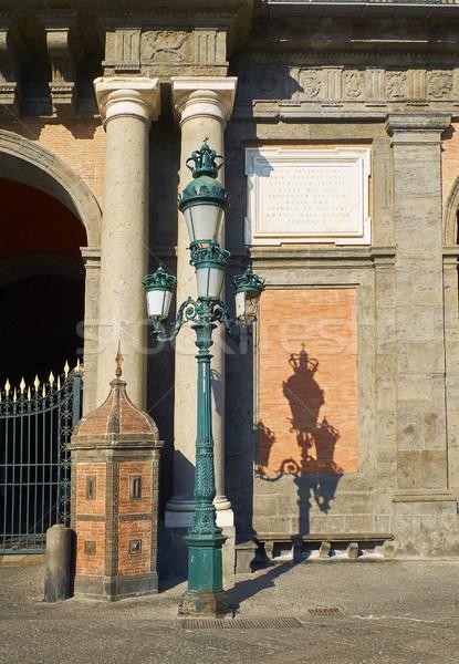 Olaszország részlet homlokzat Nápoly építészet belváros Stock fotó © Photooiasson