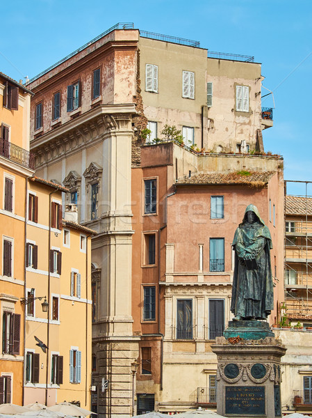 Monument to Giordano Bruno in Campo de Fiori square. Rome. Stock photo © Photooiasson