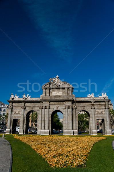 Alcala Door (Puerta de Alcala) in Independence Square. Madrid, S Stock photo © Photooiasson