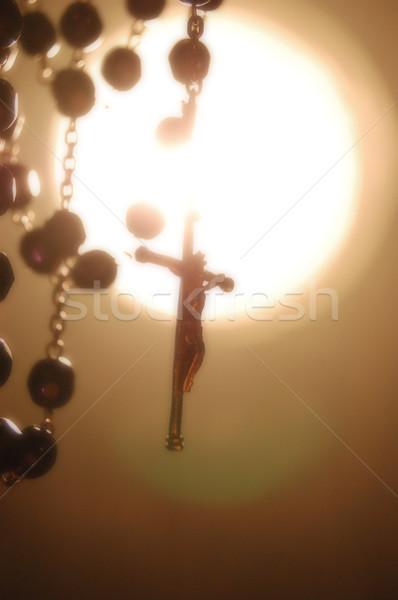 Rosario atmosfera Gesù fumo chiesa Foto d'archivio © Photooiasson