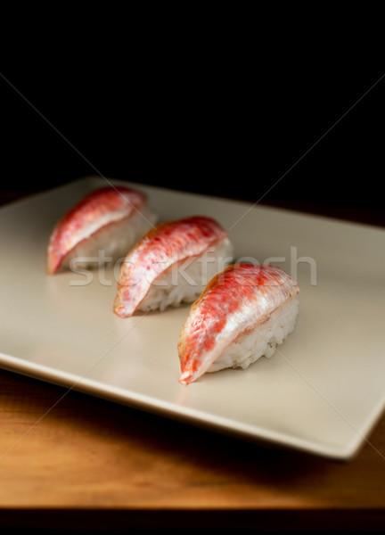Nigiri sushi red mullet. Stock photo © Photooiasson