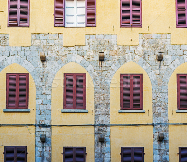 Antique facade in a Pisa street. Italy. Stock photo © Photooiasson