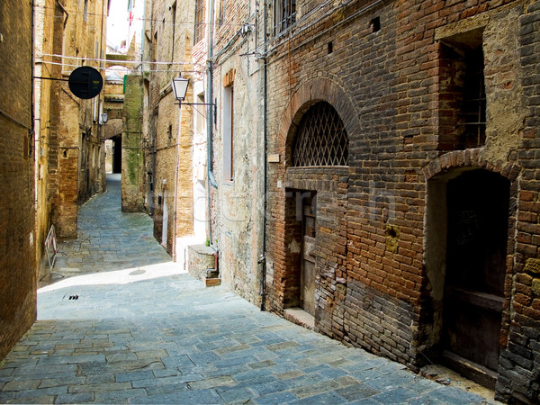 Siena street. Siena, Italy Stock photo © Photooiasson