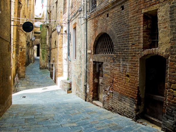 Utca Olaszország tipikus antik házak épület Stock fotó © Photooiasson
