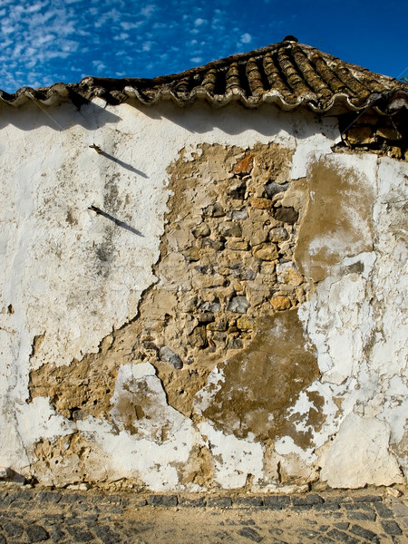 Worn stone wall in a house. Stock photo © Photooiasson