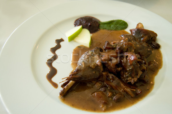 Pheasant in sauce Stock photo © Photooiasson
