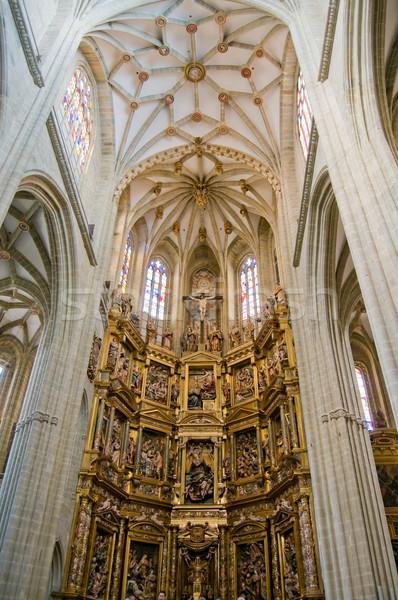 Coro órgano España cúpula madera Foto stock © Photooiasson