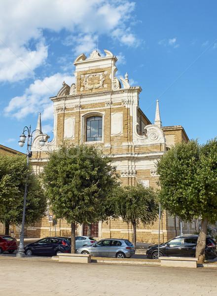 Mikulás templom Olaszország homlokzat tér város Stock fotó © Photooiasson