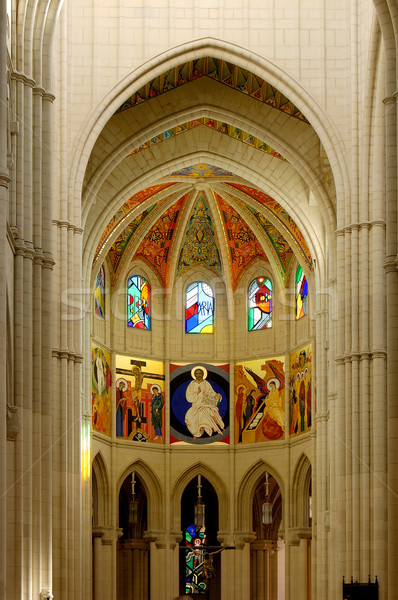 Cathedral of Almudena in Madrid, Spain. Principal dome Stock photo © Photooiasson