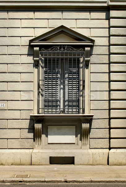 Typical window from Florentine architecture. Florence, Italy Stock photo © Photooiasson