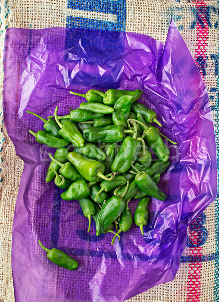 Padron green peppers. Stock photo © Photooiasson