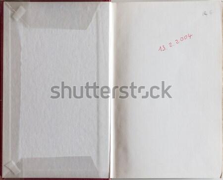 Książki ostatni strona starej książki Zdjęcia stock © Photooiasson