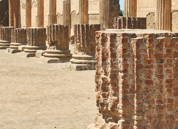 Ruines oude Romeinse stad Italië archeologische Stockfoto © Photooiasson