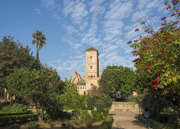Andalusian gardens in Udayas kasbah. Rabat. Morocco. Stock photo © Photooiasson