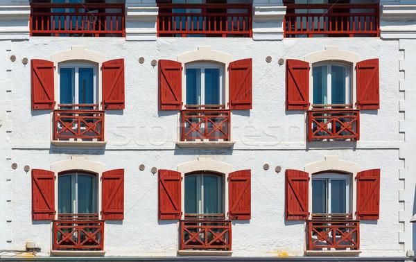Binalar ülke tipik sokak Bina şehir Stok fotoğraf © Photooiasson
