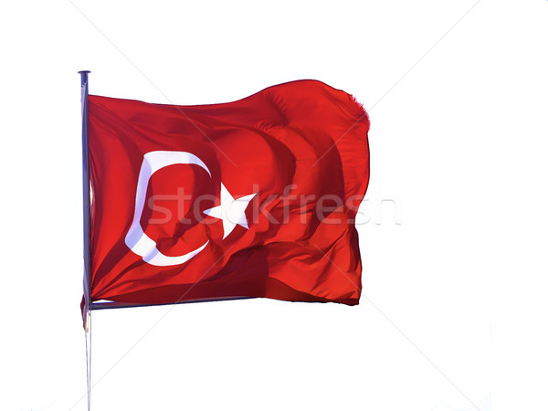 Flag of the Republic of Turkey waving. Stock photo © Photooiasson