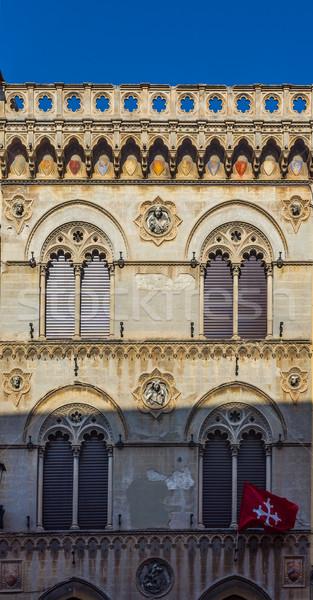 アンティーク 通り イタリア 典型的な 建物 ストックフォト © Photooiasson