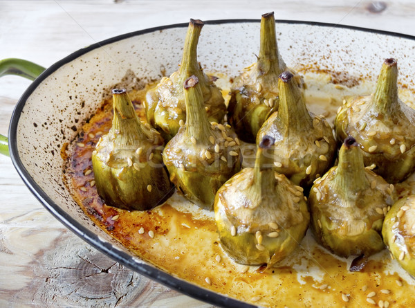 Caramelized artichokes baked. Stock photo © Photooiasson