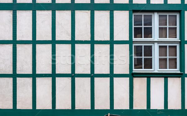 окна белый стены старые европейский Сток-фото © Photooiasson