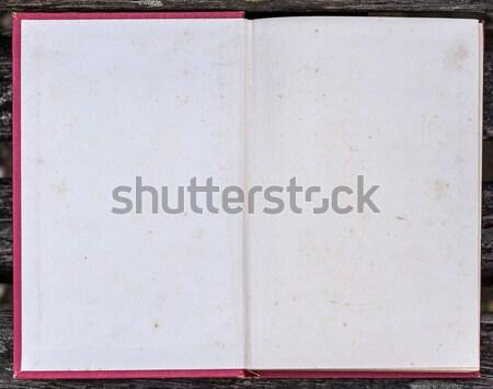 книга первый страница старые Гранж Сток-фото © Photooiasson