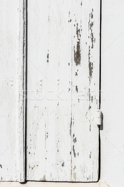 Weathered white wooden door with paint chipped and peeling. Stock photo © Photooiasson
