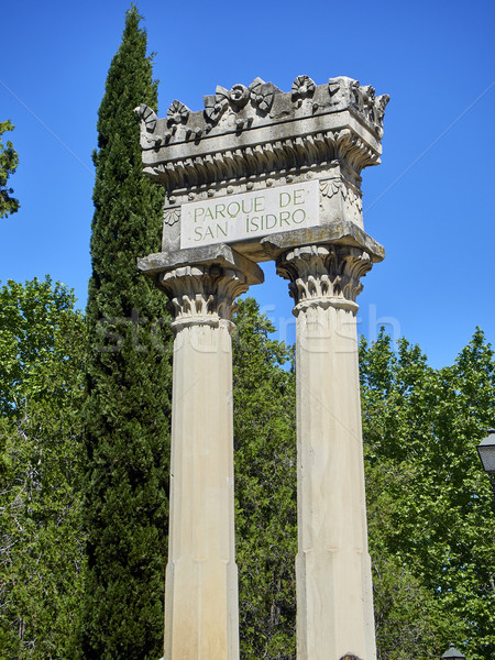 Roman colonnade in main entrance to Parque de San Isidro. Stock photo © Photooiasson