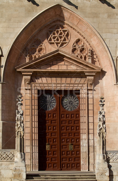 Principal Door in The North Face of Burgos Cathedral. Spain Stock photo © Photooiasson
