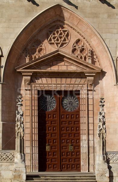 Ajtó észak arc katedrális Spanyolország nyugat Stock fotó © Photooiasson