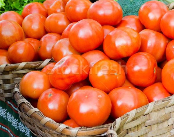 Ecológico tomates mercado naturaleza otono agricultura Foto stock © Photooiasson