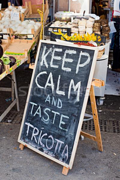 購物 黑板 味道 廣告 新鮮 商業照片 © Photooiasson