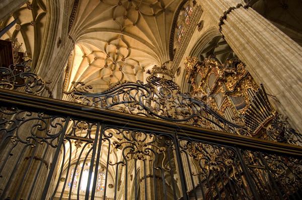 Coro novo catedral Espanha construção igreja Foto stock © Photooiasson