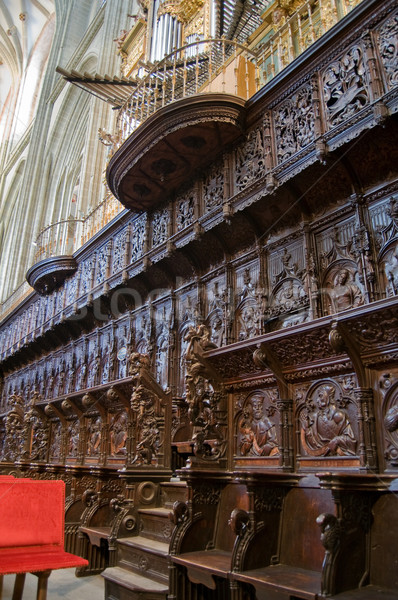 Coro España madera iglesia piedra Foto stock © Photooiasson