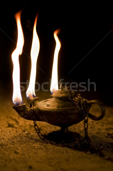 Aged Oil Lamp Stock photo © Photooiasson