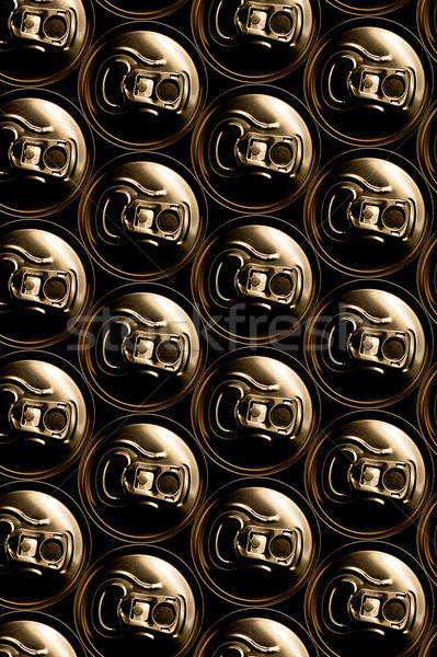 golden aluminum drink cans piled Stock photo © Photooiasson