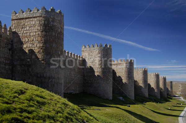 Avila, spain, wall and towers Stock photo © Photooiasson