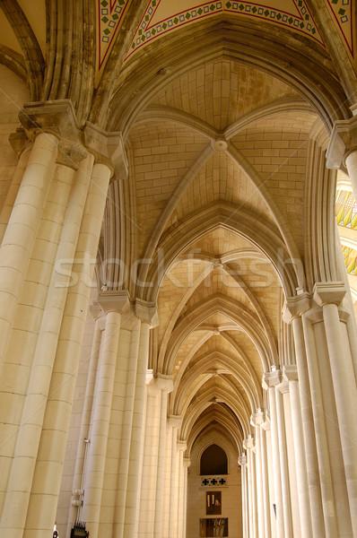 Stock fotó: Katedrális · Madrid · Spanyolország · fény · ablak · hajó