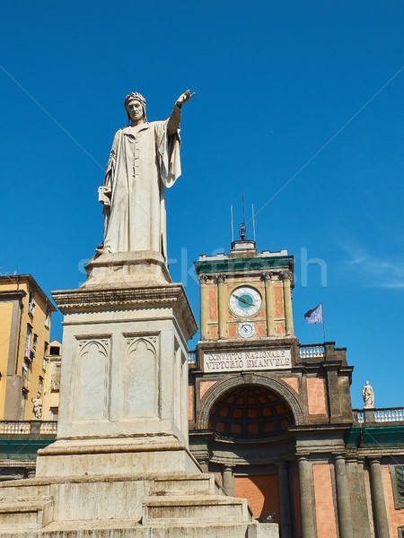 Statue of Dante Alighieri in Naples. Campania, Italy. Stock photo © Photooiasson