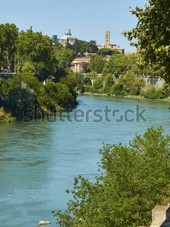 Tiber river of Rome. Lazio, Italy. Stock photo © Photooiasson
