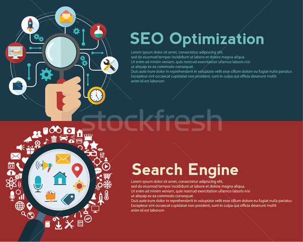 Set Design Konzepte Web Analytik Stock foto © Photoroyalty