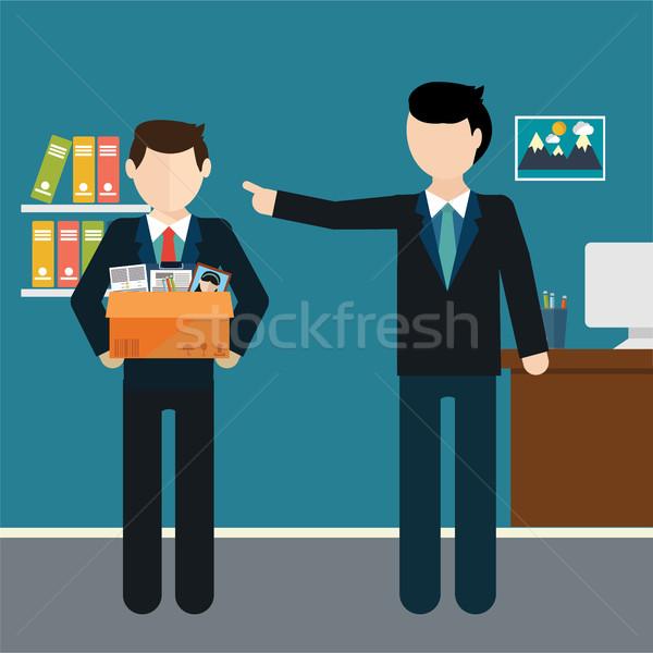 Főnök alkalmazott férfi üzletember doboz munkás Stock fotó © Photoroyalty