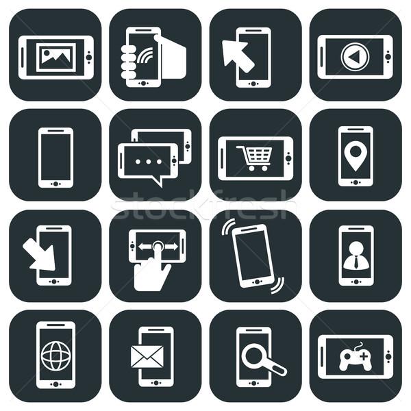 Telefonu komórkowego aplikacje telefonu technologii komórkowych Zdjęcia stock © Photoroyalty