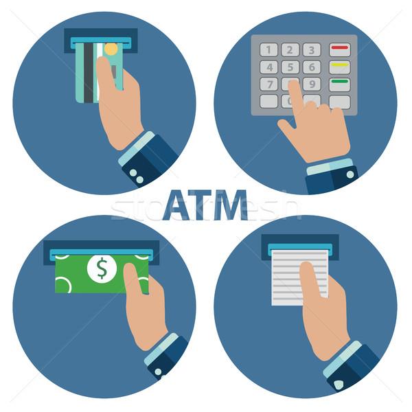 Caixa eletrônico pagamento dinheiro cartão rua fundo Foto stock © Photoroyalty