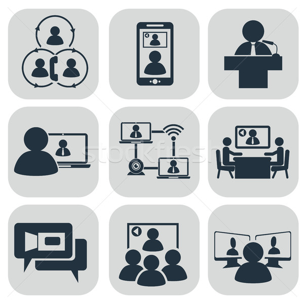 Stock photo: Business communication. Video conference
