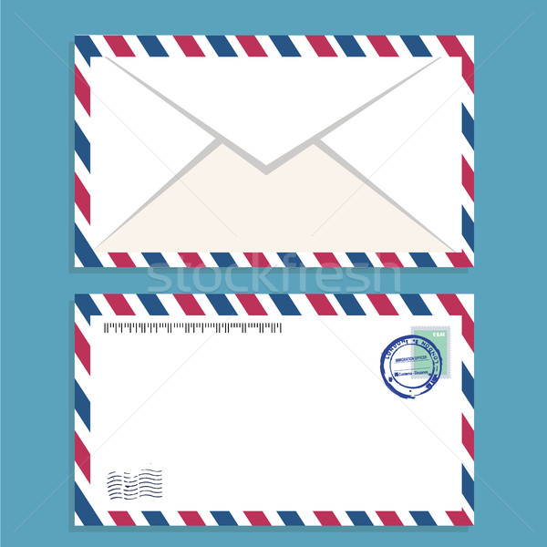 Air mail envelope with postal stamp isolated. Stock photo © Photoroyalty